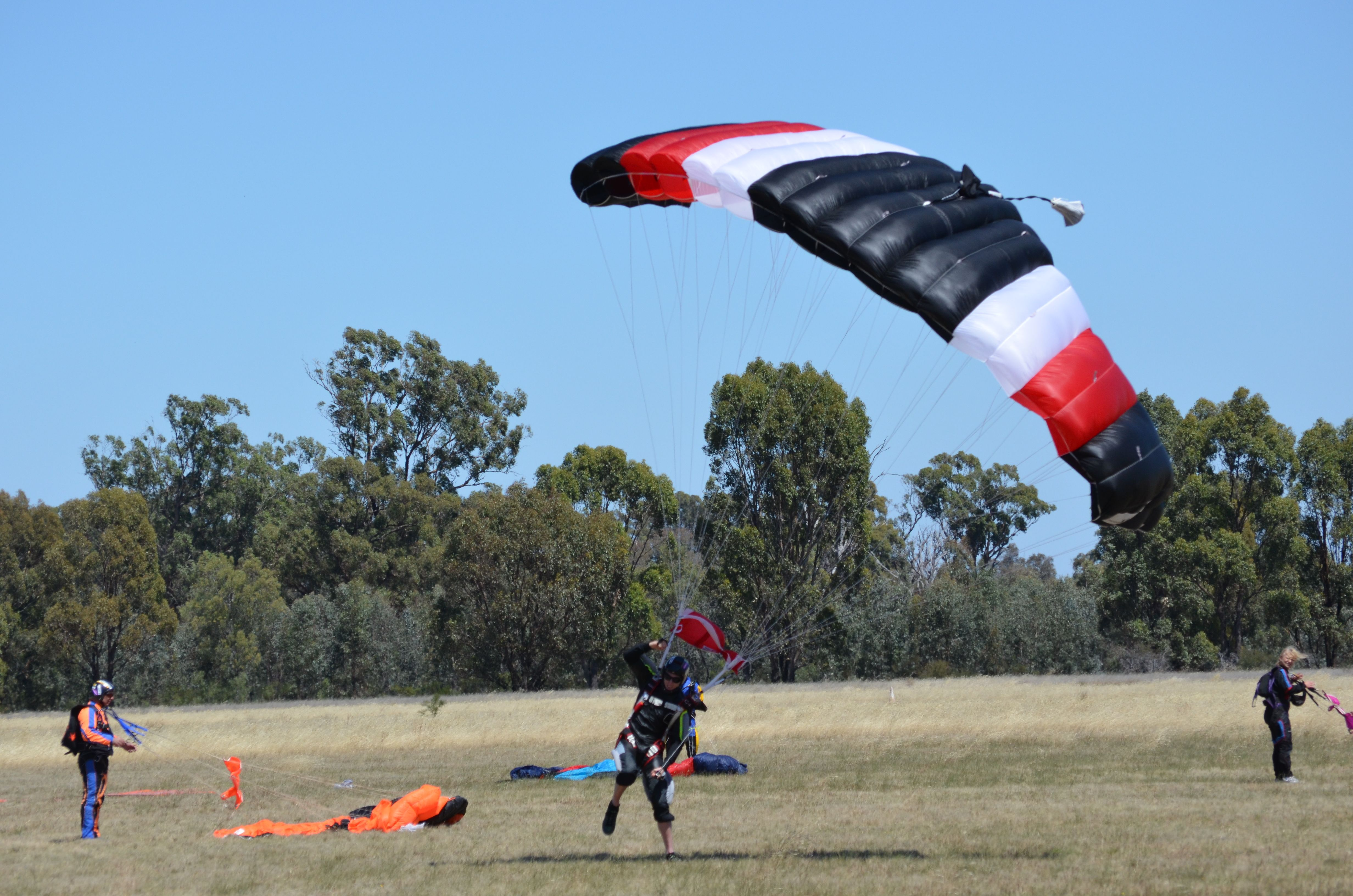 Landing the jump at Skydiving Melbourne