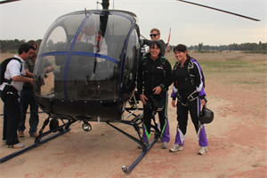 Helicopter skydiving at Euroa